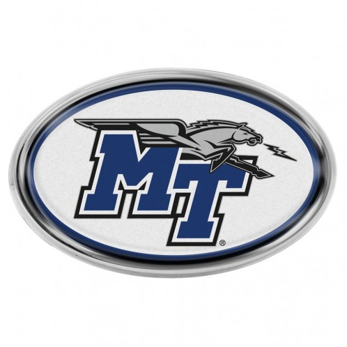 MT Logo w/ Lightning Chrome Metal Domed Auto Emblem