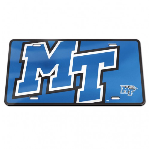MT Logo Acrylic License Plate