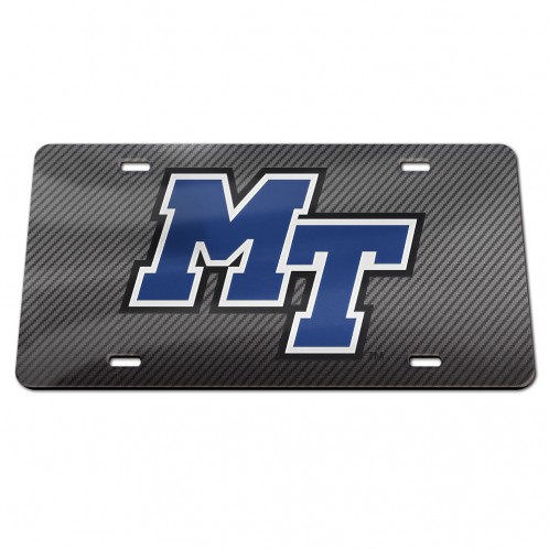 MT Logo Inlaid Acrylic License Plate