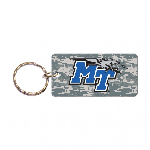 MT Logo w/ Lightning Camo Rectangle Keychain