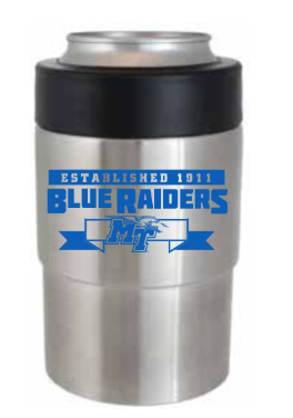 Blue Raiders Est. 1911 Vacuum Insulated 12 oz. Can Cooler