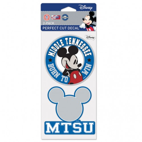 MTSU Born to Win Disney 2-pack Perfect Cut Decal