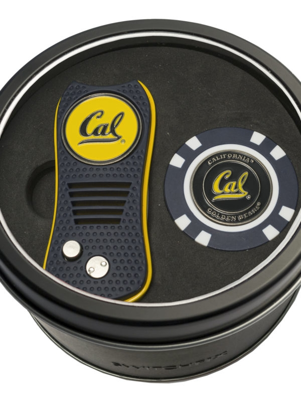 Cal Bears Tin Set w Switchfix & Golf Chip by Team Golf