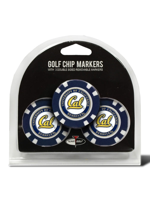Cal Bears 3 Pack Chip Markers by Team Golf