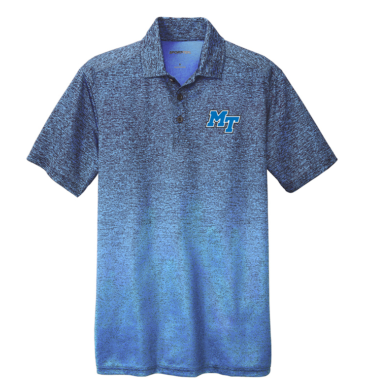 MT Logo w/ Lightning Ombre Heather Polo