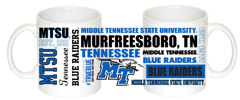 MTSU Sublimated Coffee Mug