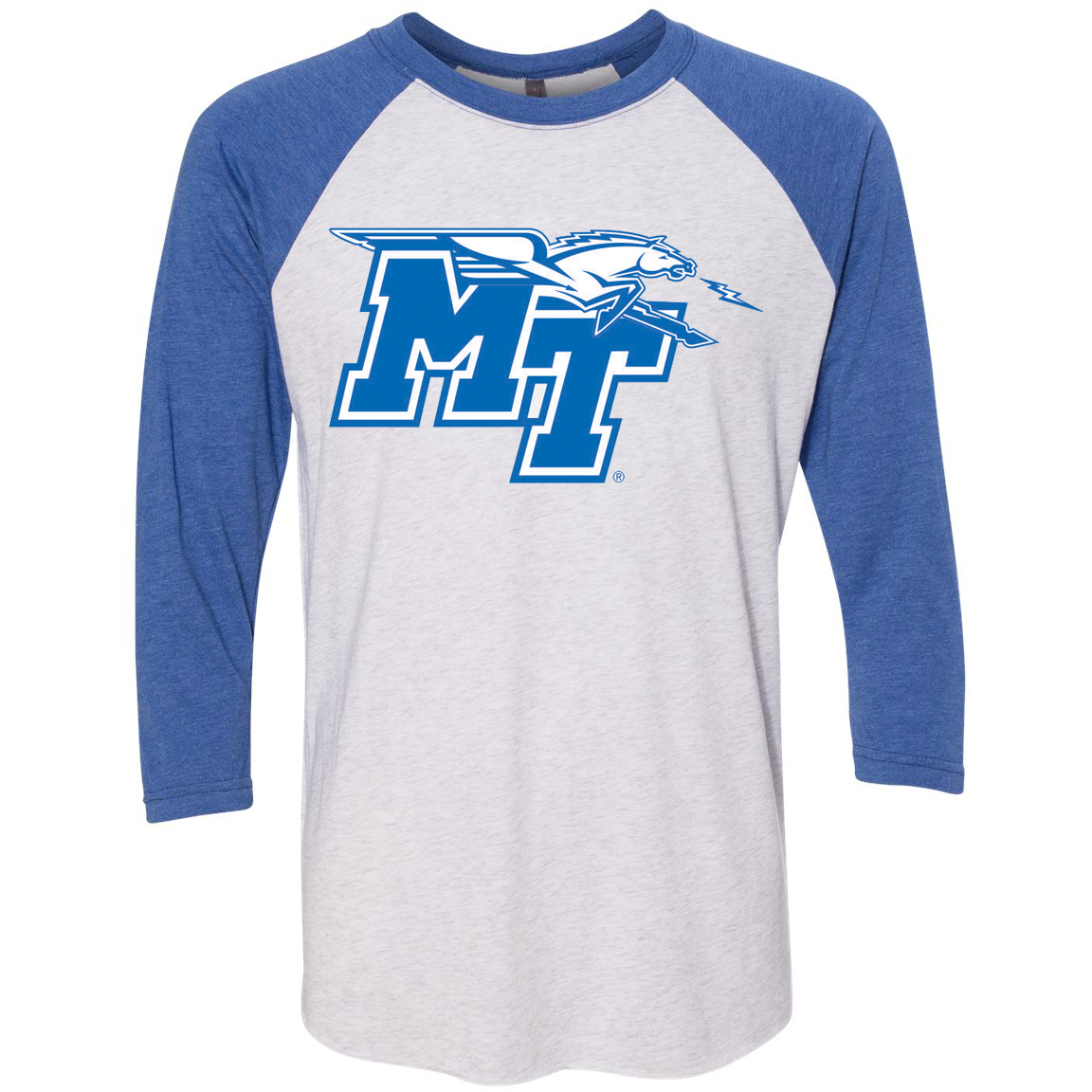 MT Logo w/ Lightning Raglan 3/4 Sleeve Shirt