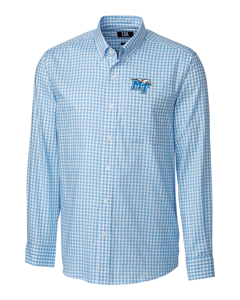 MT Logo w/ Lightning Long Sleeve League Gingham Polo