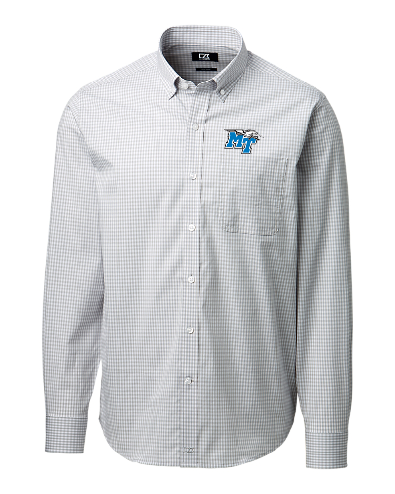 MT Logo w/ Lightning Anchor Gingham Button Down