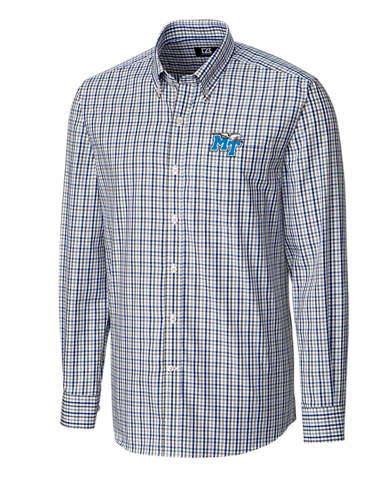 MT Logo w/ Lightning Gilman Plaid Button Down
