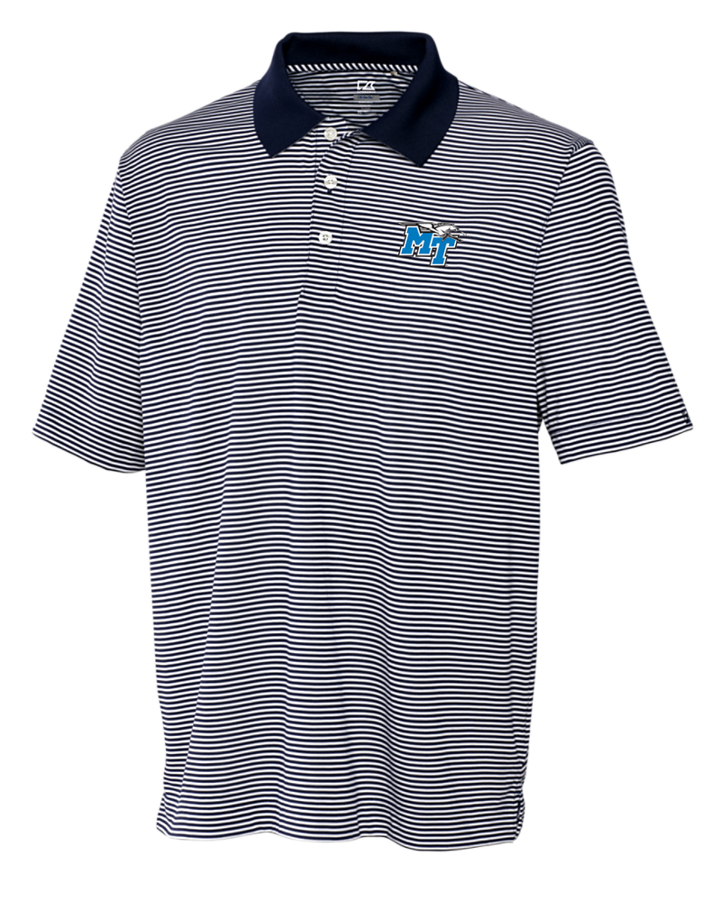MT Logo w/ Lightning Trevor Stripe Polo