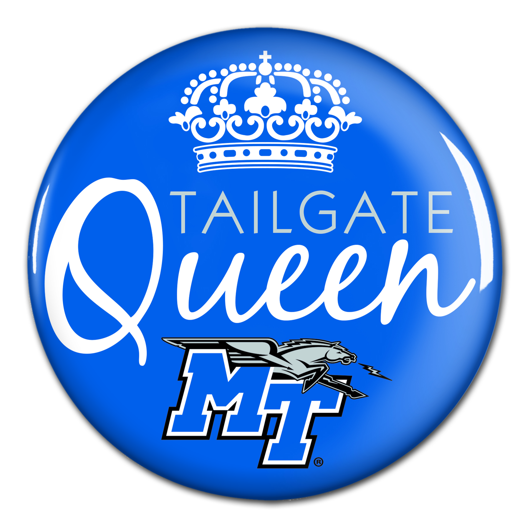 "MT Tailgate Queen 3"" Button"