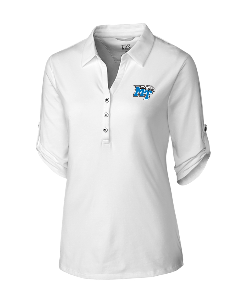 MT Logo w/ Lightning Women's Thrive Polo