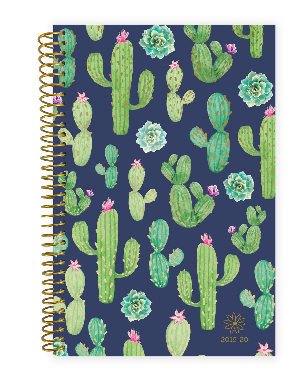Navy Cacti - 2020 Soft Cover Planner