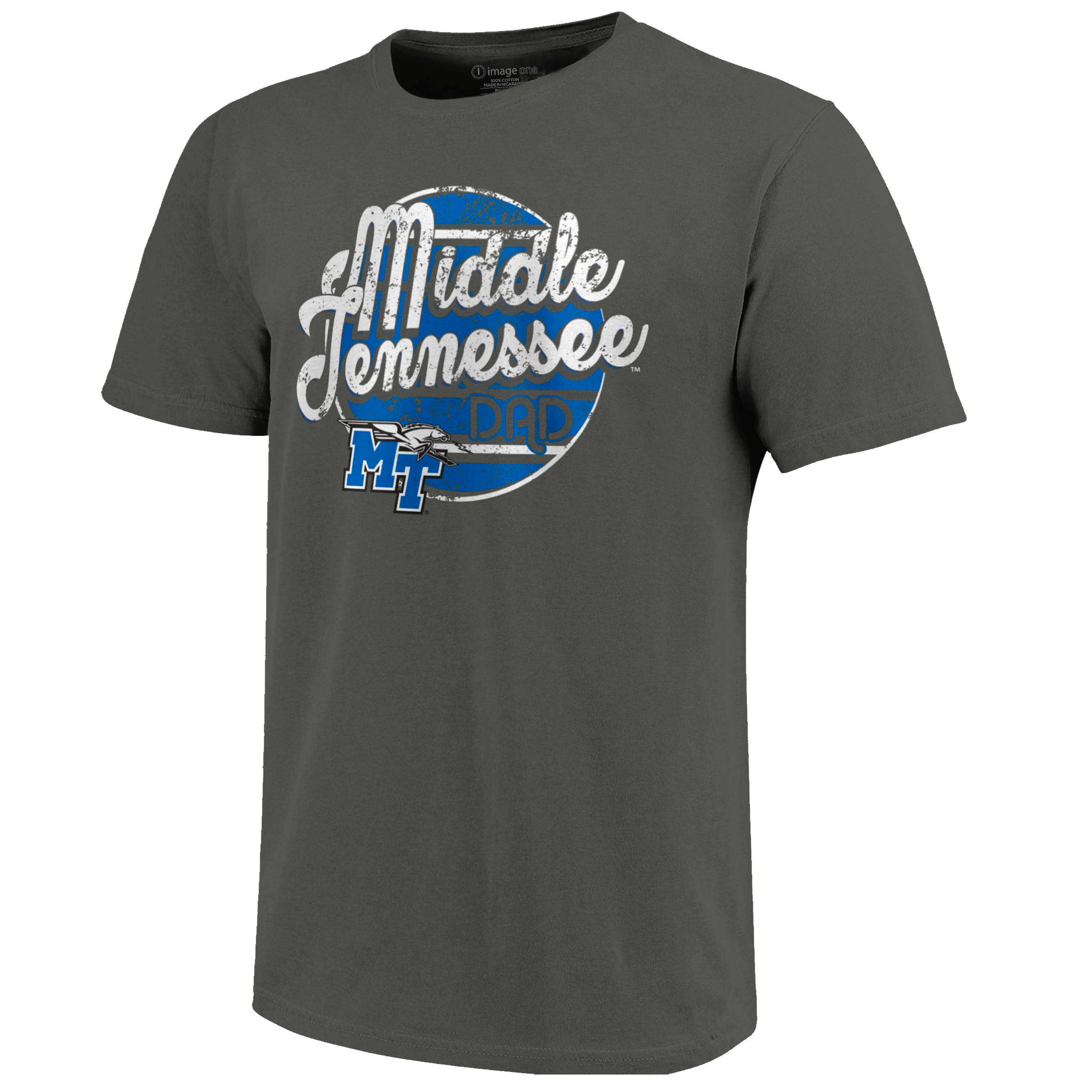 Middle Tennessee Dad Retro Script Circle Tshirt