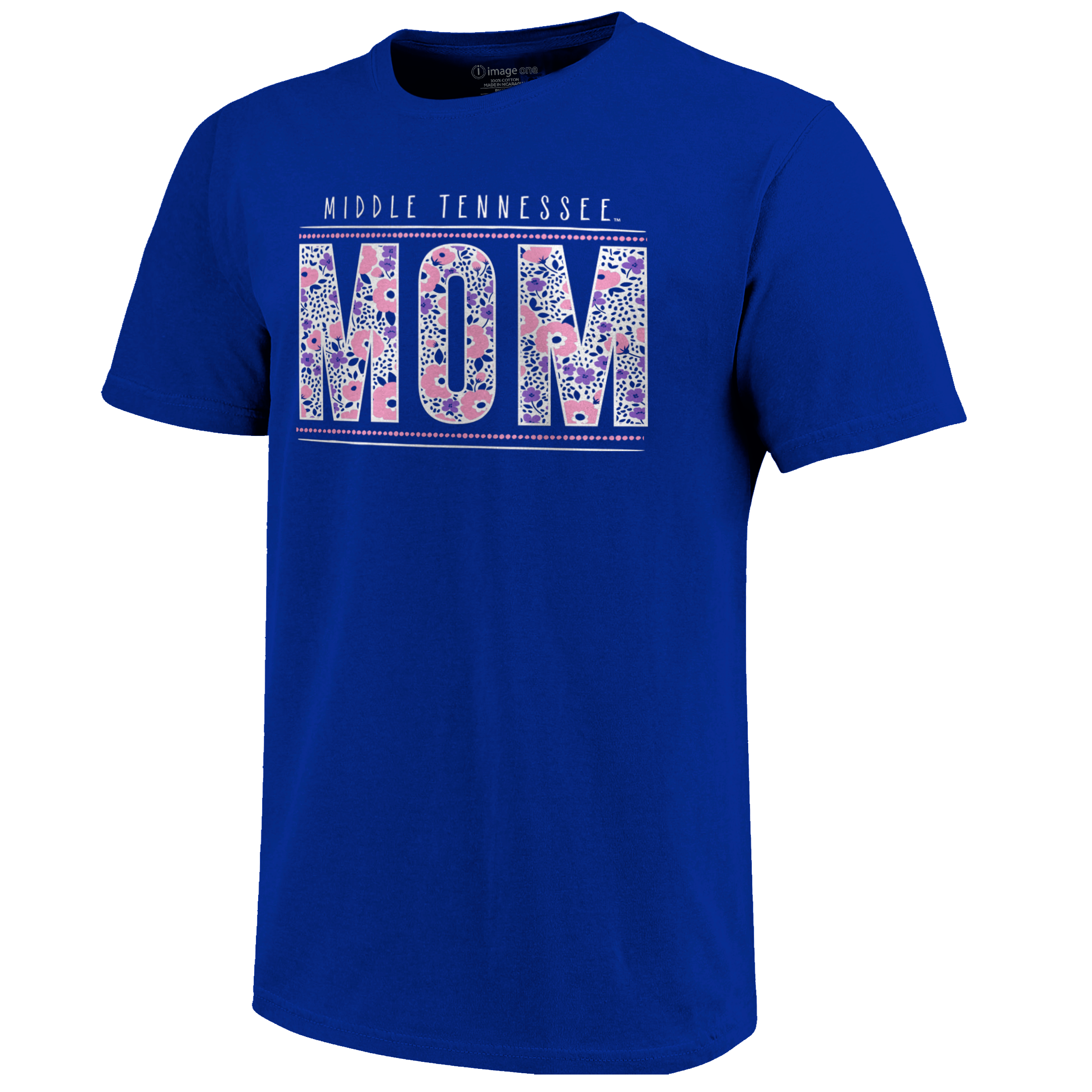 Middle Tennessee Mom Floral Dot Tshirt