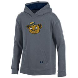 University of California Berkeley Under Armour  Girls Triblend Fleece Hood Oski Logo