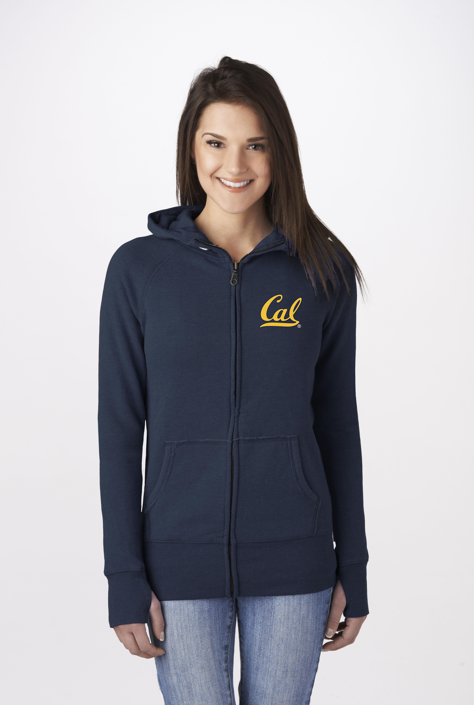 Cal Bears Ladies Full Zip by Campus Crew 'Cal' Logo