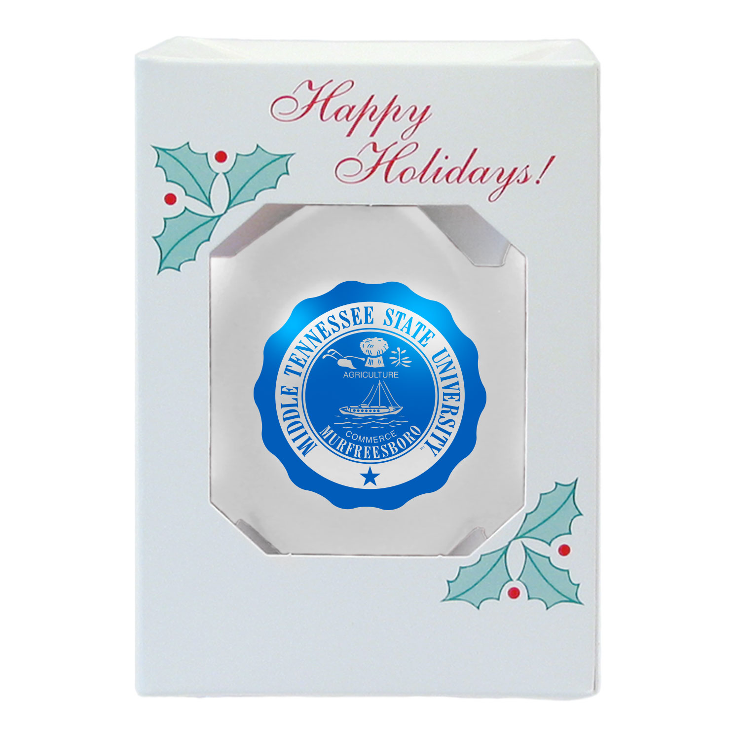 MTSU Seal Shatterproof Ornament