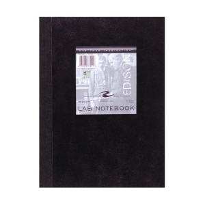 "BLACK LAB BOOK 11""x8.5"" 20# WHITE PAPER 5x5 GRAPH RULED"