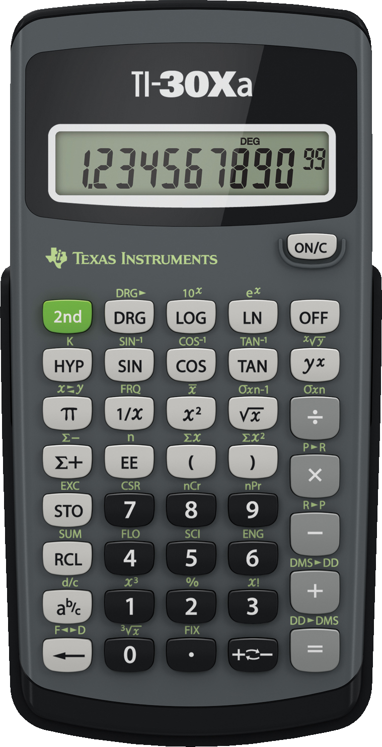 30Xa Scientific Calculator - Black 1Pk