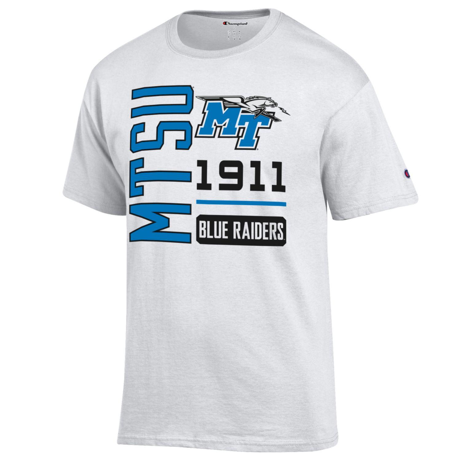 MTSU MT Logo w/ Lightning 1911 Blue Raiders Tshirt