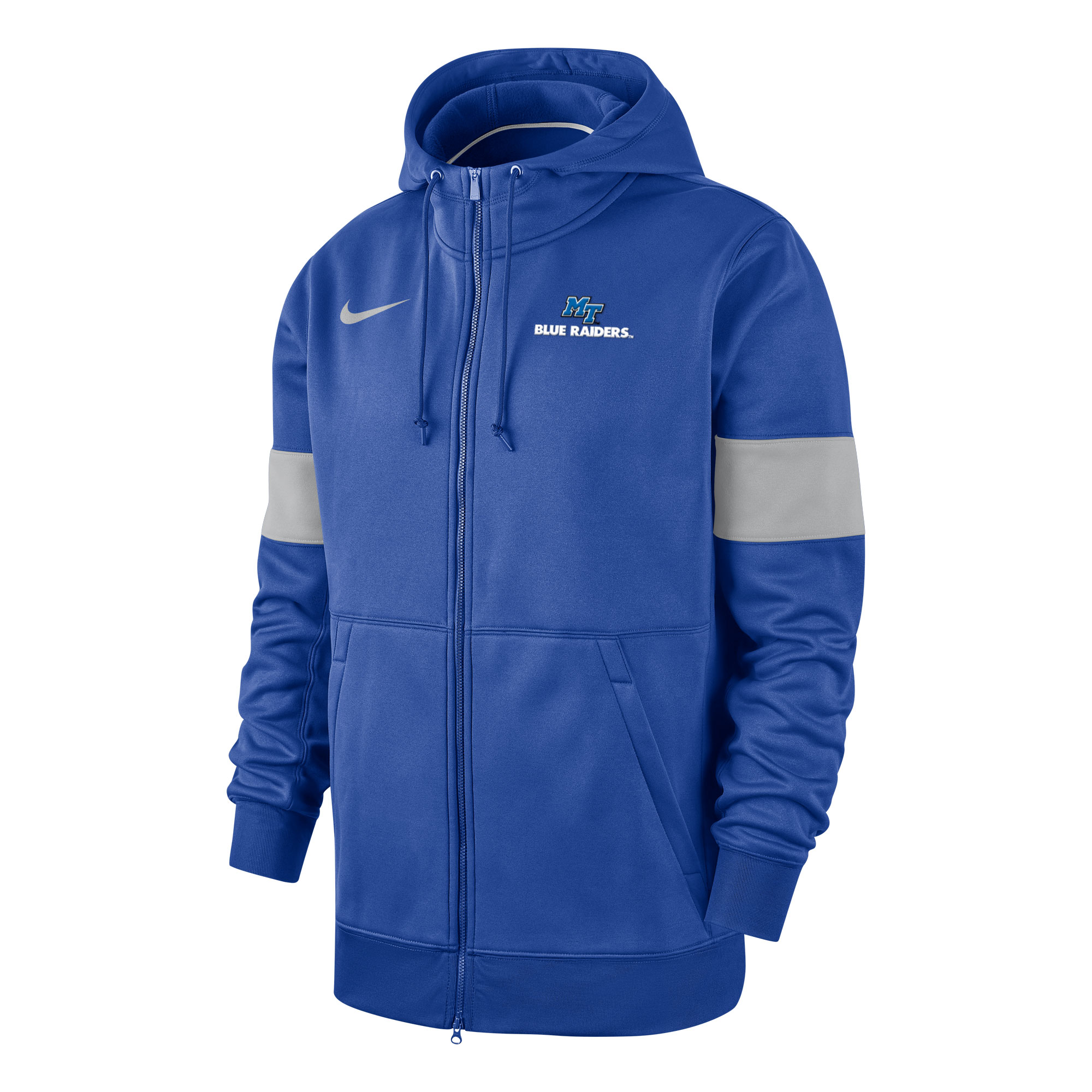 MT Blue Raiders Therma Full Zip Nike® Sideline Hoody