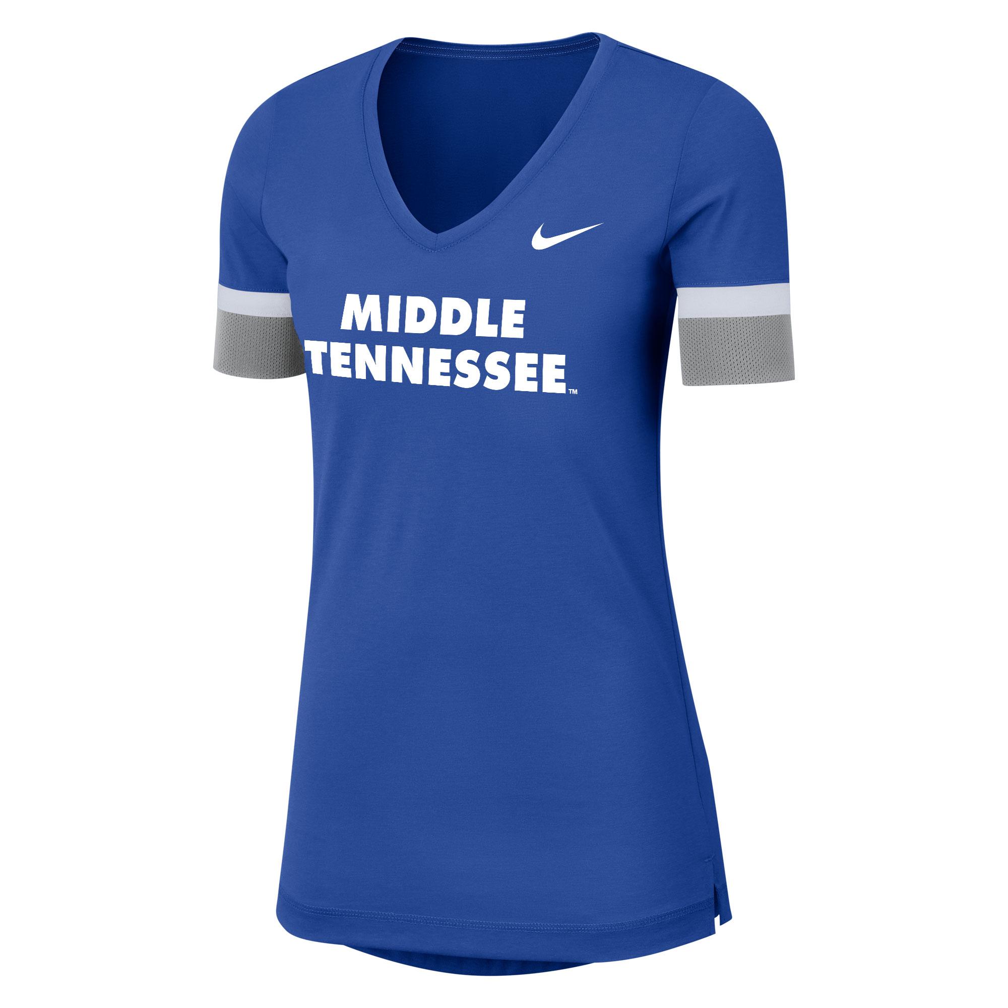 Middle Tennessee Nike® Sideline Women's Fan Vneck