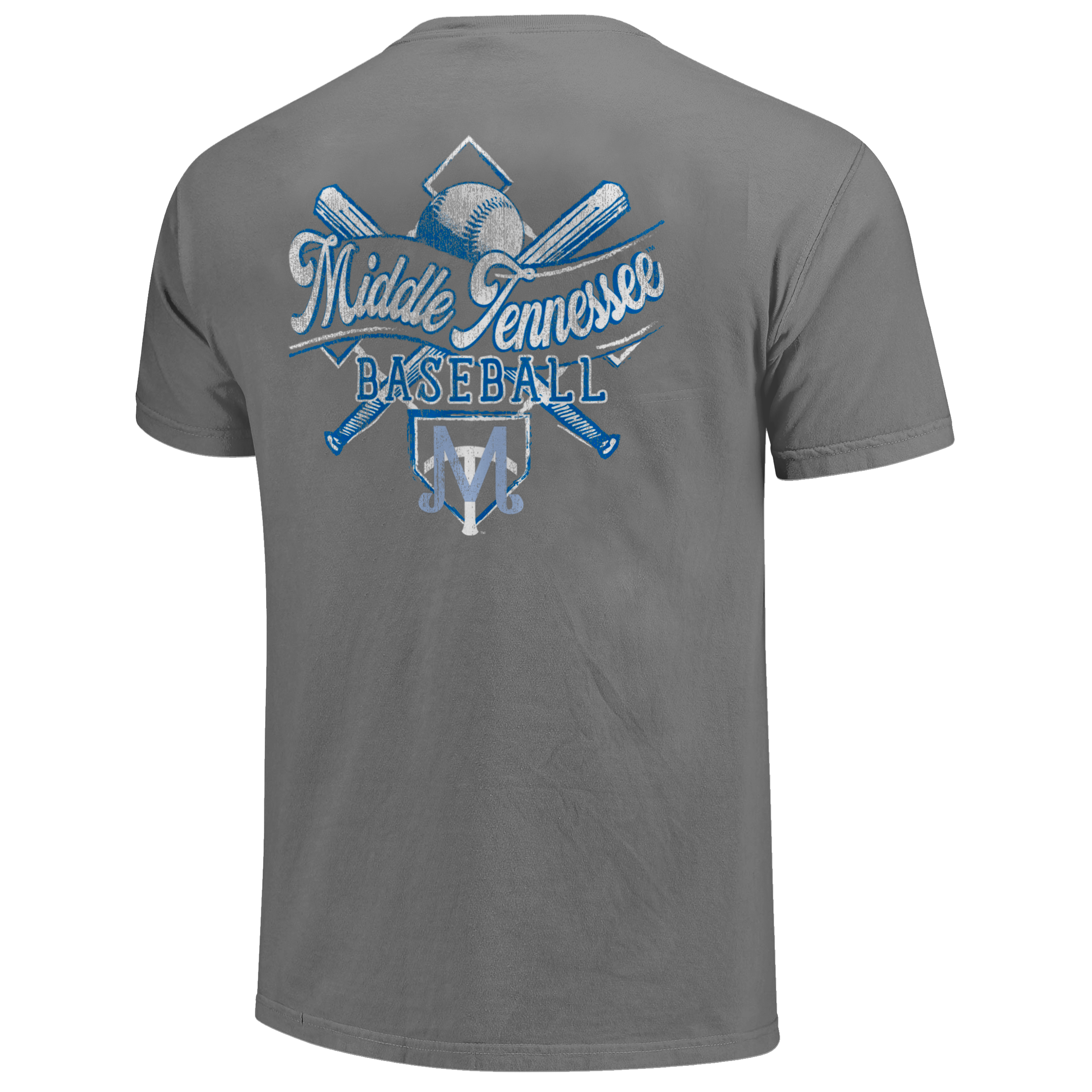 Middle Tennessee Baseball Diamond Sketch Comfort Colors Shirt