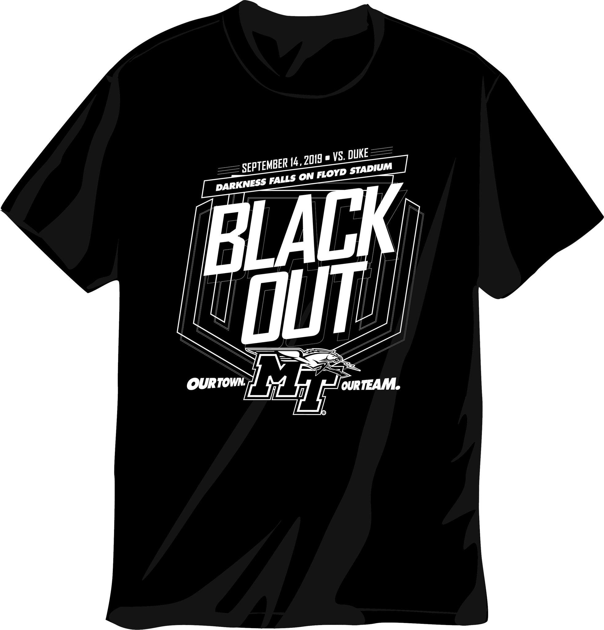 MTSU vs. Duke 2019 Blackout Tshirt