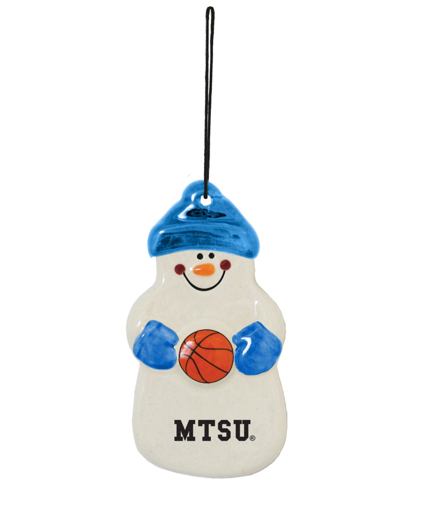 MTSU Snowman Basketball Ornament