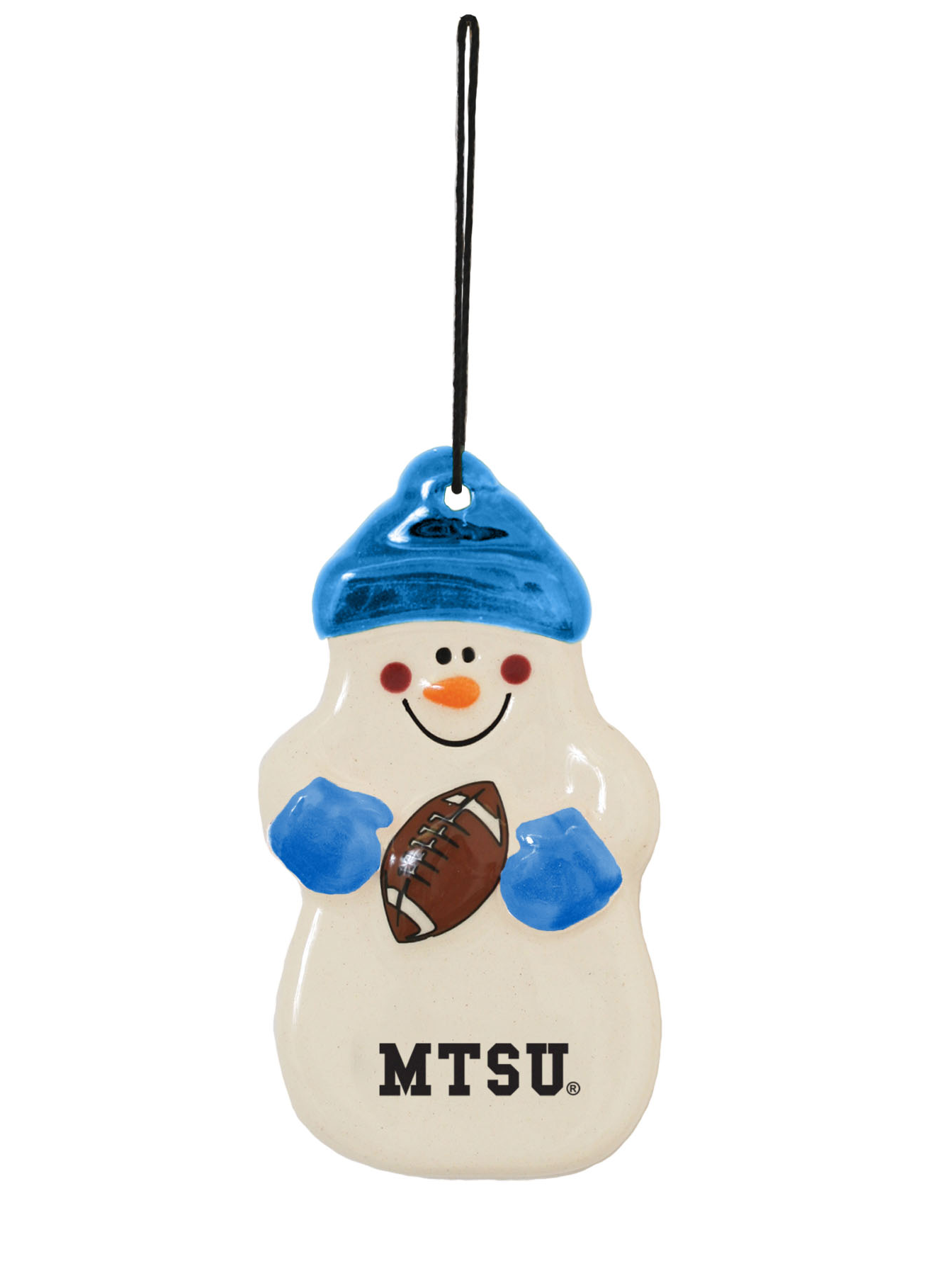 MTSU Snowman Football Ornament
