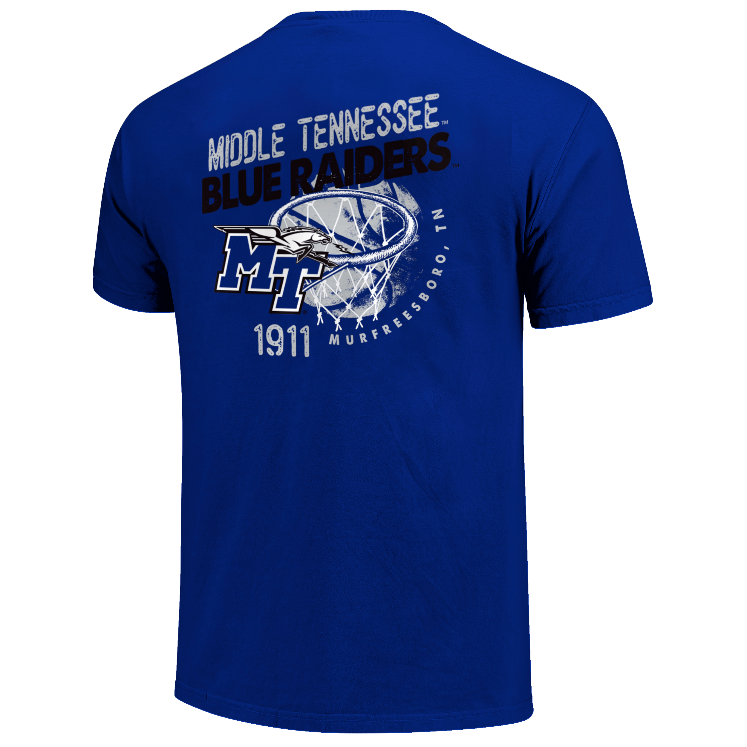 Middle Tennessee Basketball Goal Line Drawing Tshirt