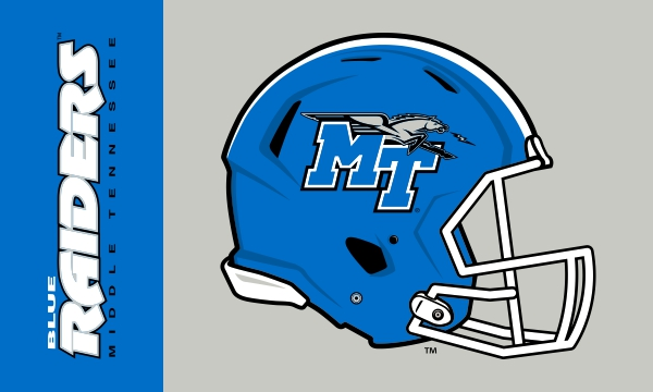 MTBlue Raiders Football Helmet 3x5 Flag