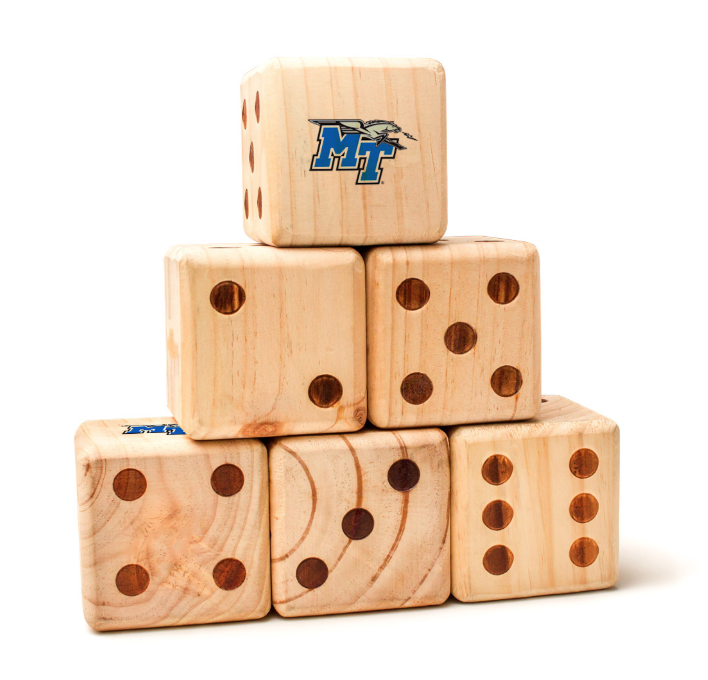 Middle Tennessee State University Blue Raiders Yard Dice