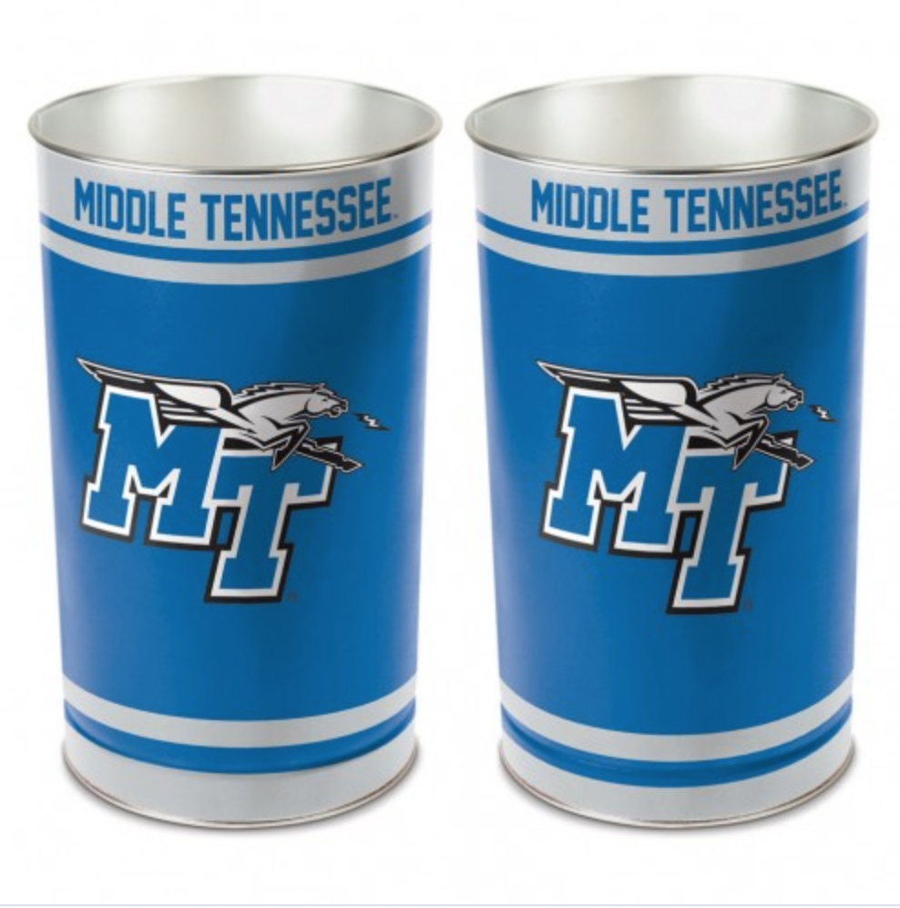 "Middle Tennessee Wastebasket Tapered 15"" H"