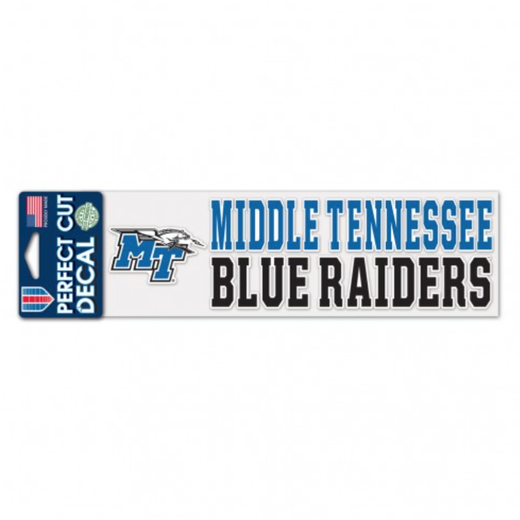 Middle Tennessee Blue Raiders Stacked Perfect Cut Decal
