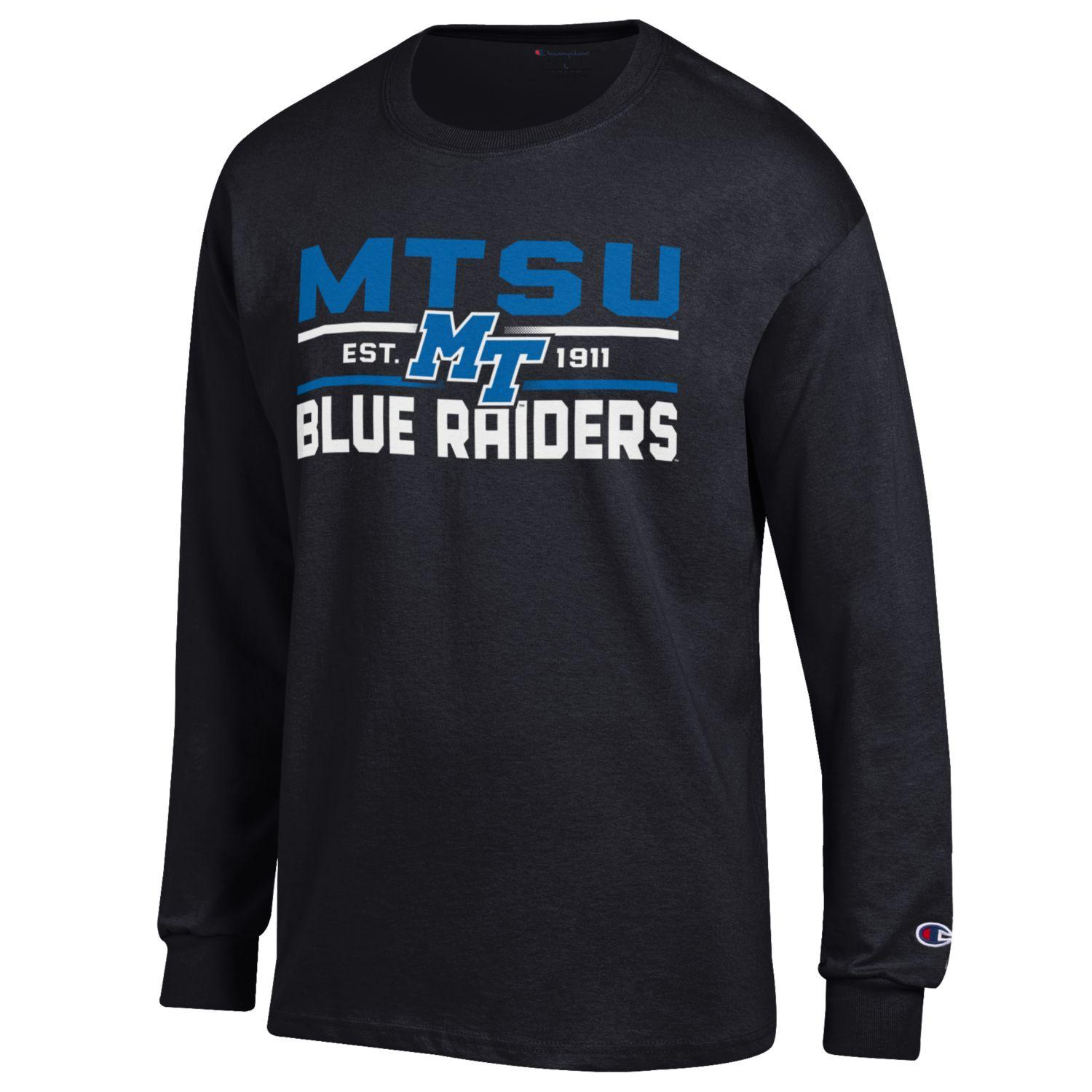 MTSU Blue Raiders Est. 1911 w/ MT Logo Long Sleeve Shirt