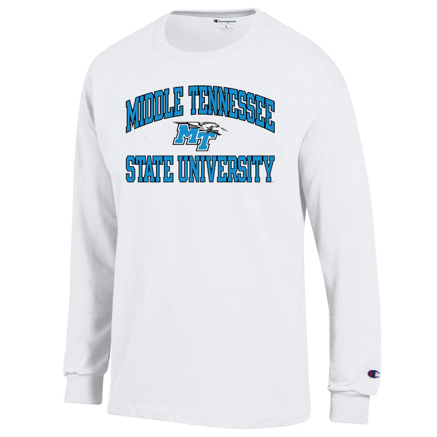 Middle Tennessee State University Arched MT Logo w/ Lightning Long Sleeve Shirt