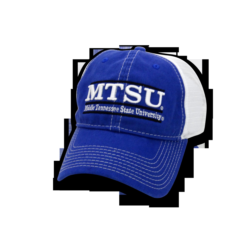 MTSU Bar Design Mesh Take Along Hat
