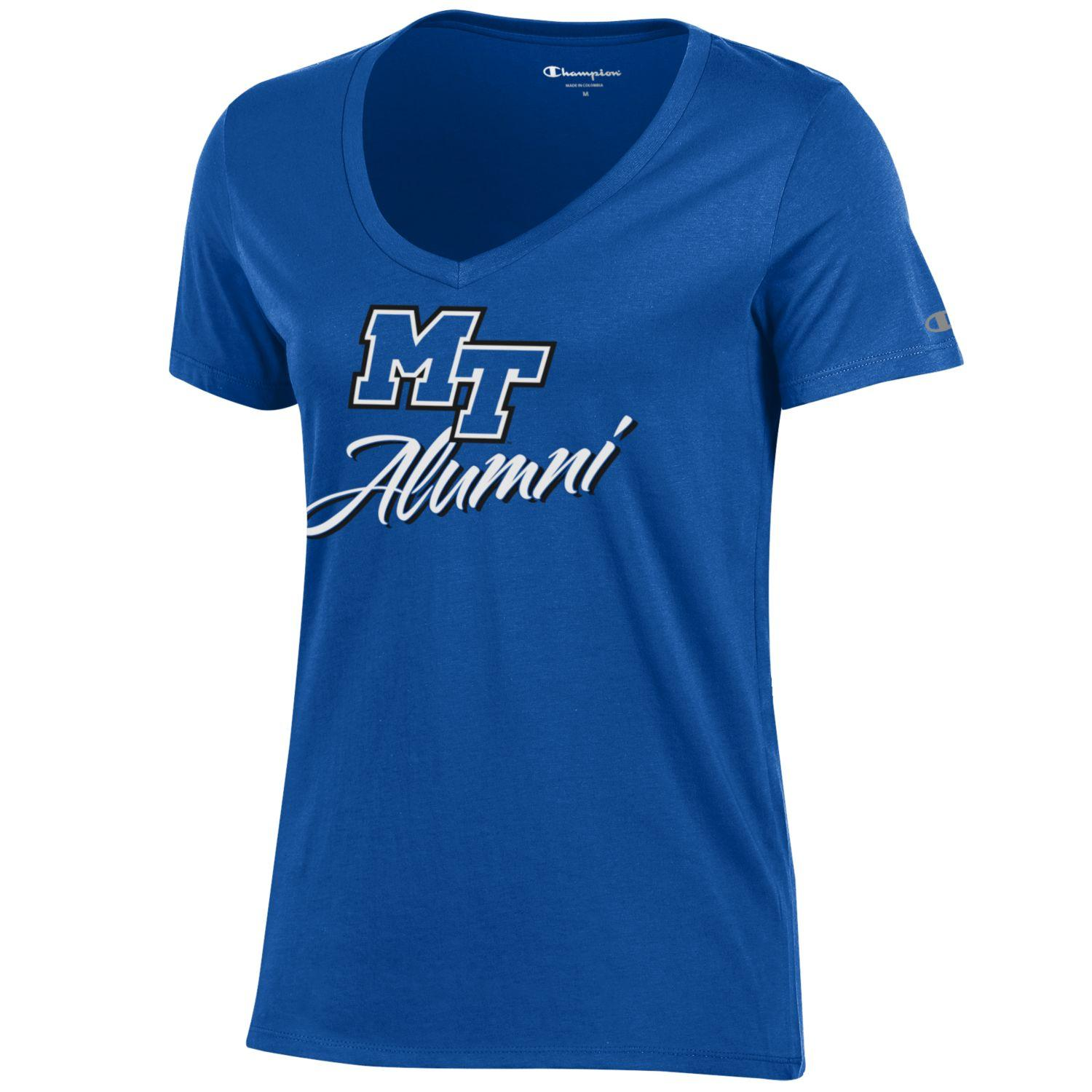 MT Logo Alumni Women's University Vneck Shirt