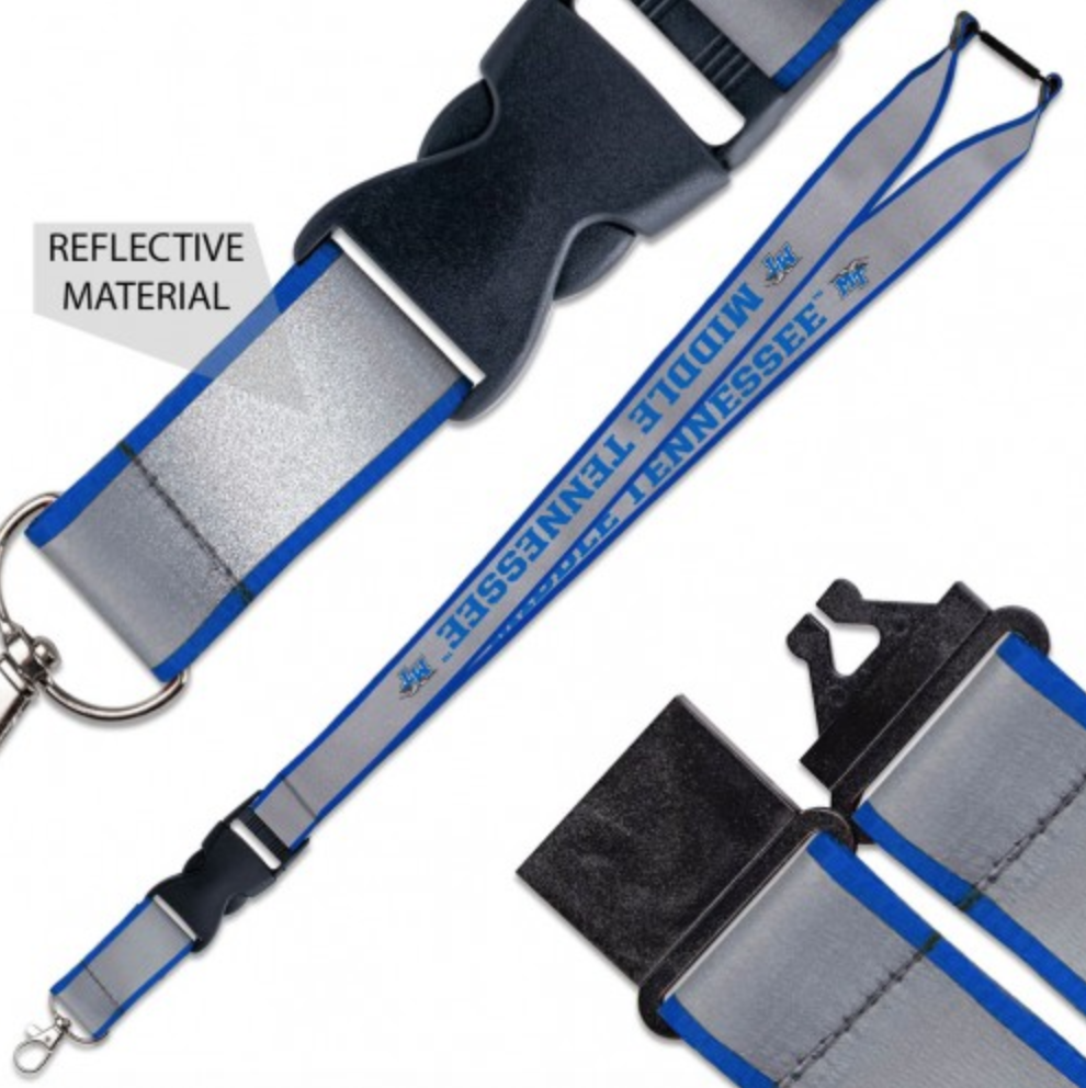"Middle Tennessee Reflective 1"" Lanyard"