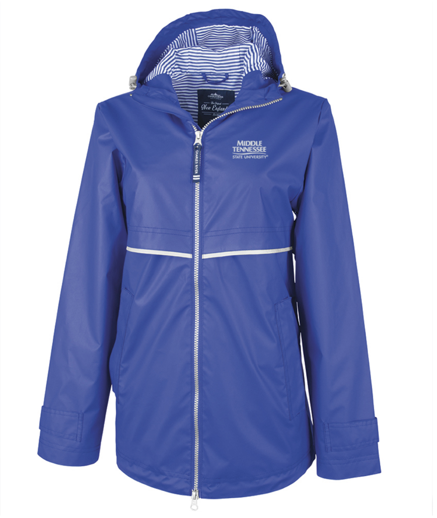 Middle Tennessee New Englander Women's Rain Jacket w/ Printed Lining