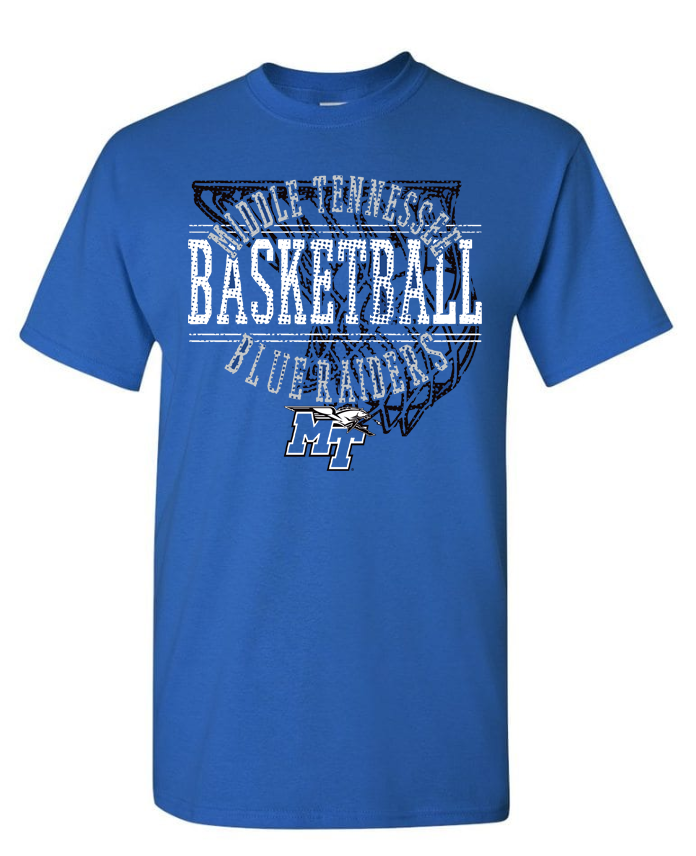 Middle Tennessee Blue Raiders Faded Net Tshirt