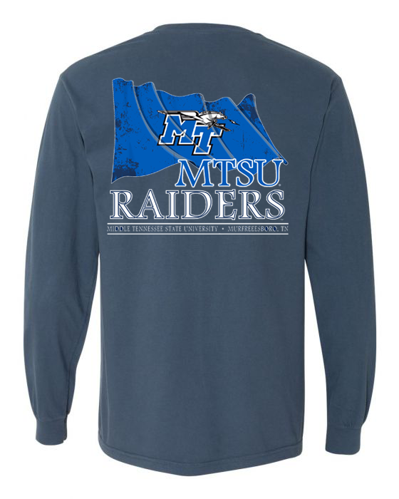 MT Logo w/ Lightning Flag Flying Long Sleeve Comfort Colors Shirt