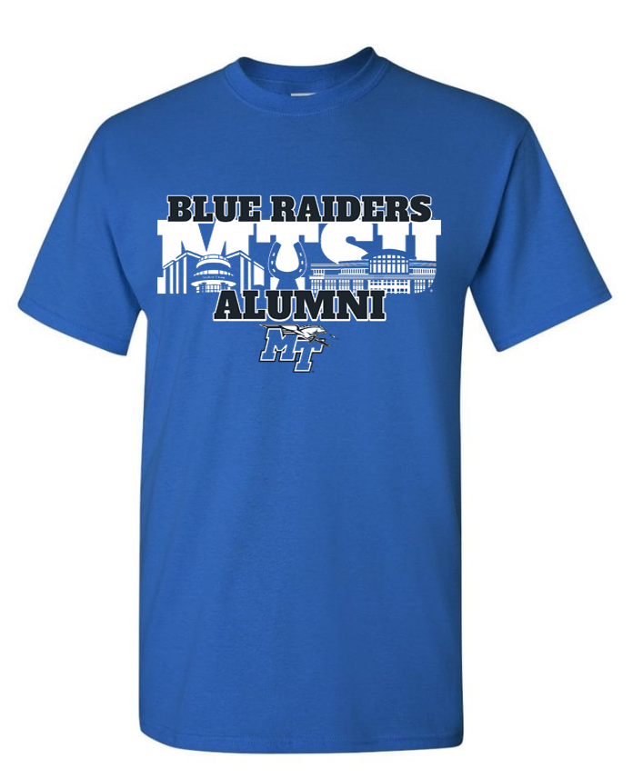 Blue Raiders Alumni MT Logo w/ Lightning Tshirt