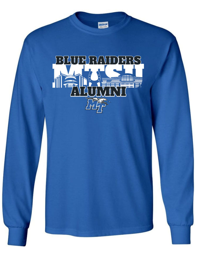 Blue Raiders Alumni MT Logo w/ Lightning Long Sleeve Shirt