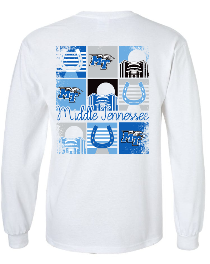 Middle Tennessee Campus Color Squares Long Sleeve Shirt