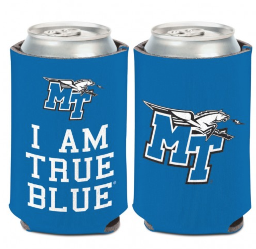 MT Logo w/ Lightning I am True Blue Can Coozie