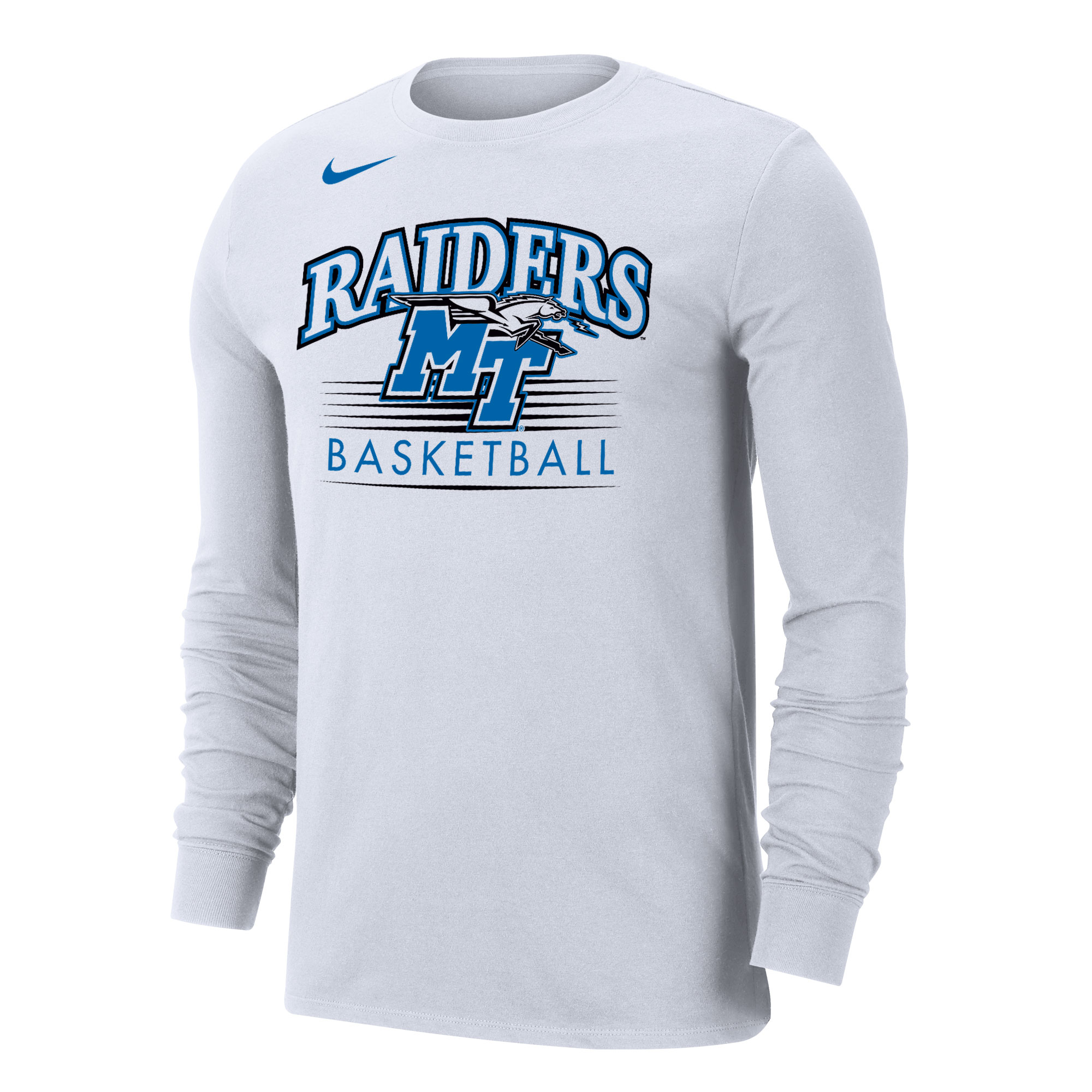 Raiders MT Logo w/ Lightning Basketball Nike® Dri-Fit Cotton Long Sleeve Shirt